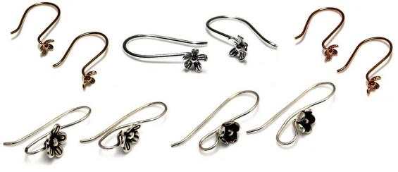 Zelf oorbellen maken - oorhaakjes met bloem